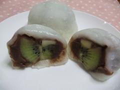 レンジで簡単☆白玉もち粉でキウイ大福