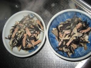ひじきとスパムの炒め物