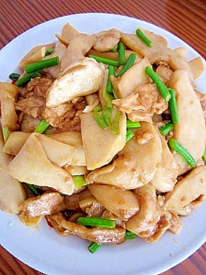 エリンギと豚肉の炒め物(杏鮑炒猪肉)