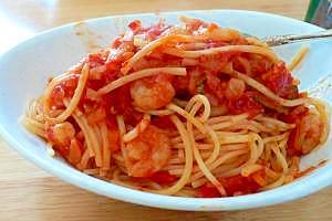 えびっぷり!トマトスパゲッティ