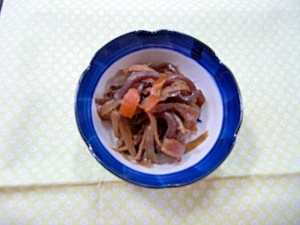 コンニャクとゴボウの炒め煮