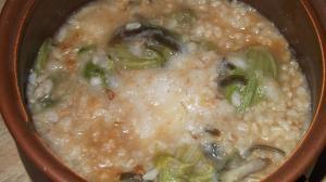 ふきのとうと長芋の味噌粥