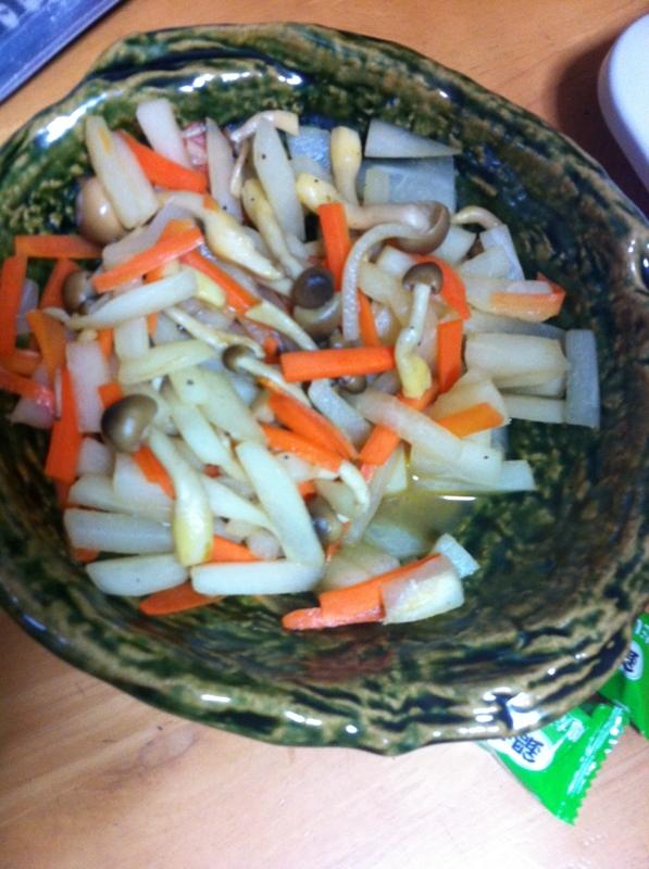 ヘルシー簡単しめじ&野菜の和え物