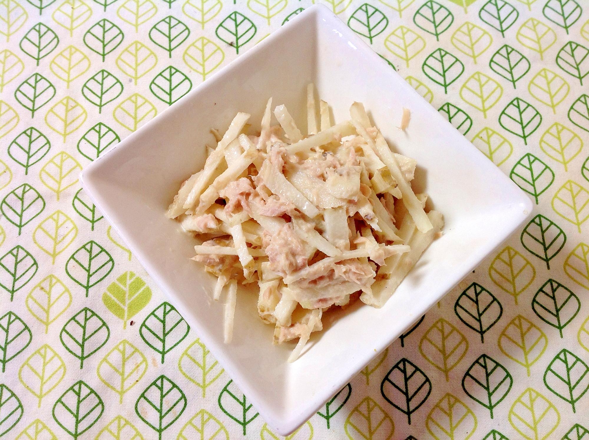 菊芋とツナのマヨサラダ(o^^o)