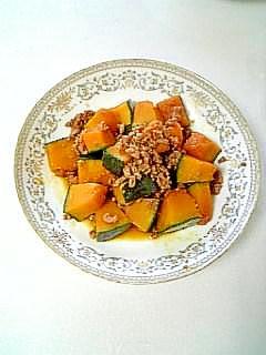 ☆鶏そぼろとかぼちゃの煮付け☆