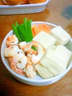 こどもピーマンde高野豆腐と野菜の炊き合わせ