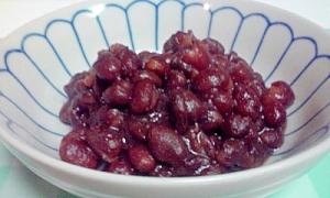和菓子屋の女将さんの小豆煮。ぜんざい♪