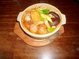 キムチ鍋焼きうどん