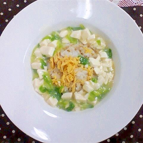 豆腐とレタスのあんかけ炒飯