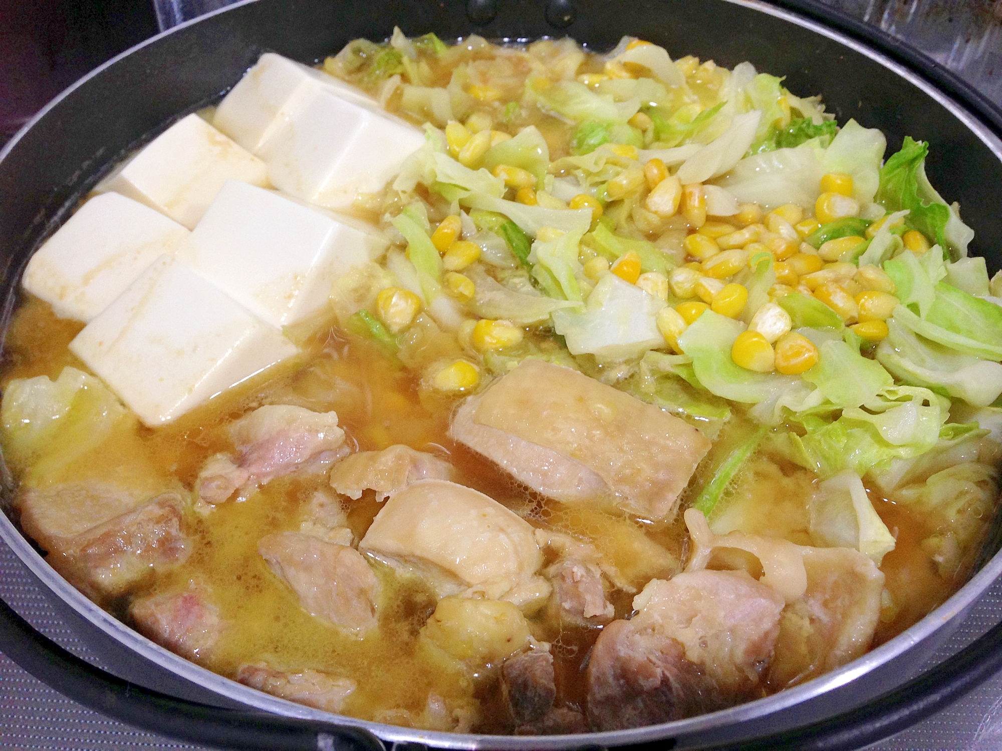 簡単手作り☆鶏肉とキャベツの味噌バター鍋 レシピ・作り方 by うーころちゃん|楽天レシピ