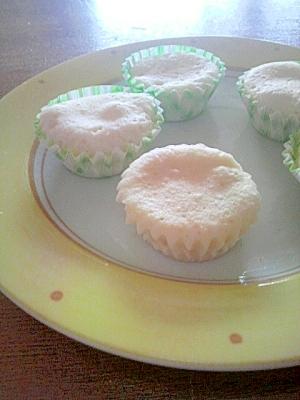 ホットケーキミックスで、蒸しパン風(^^)