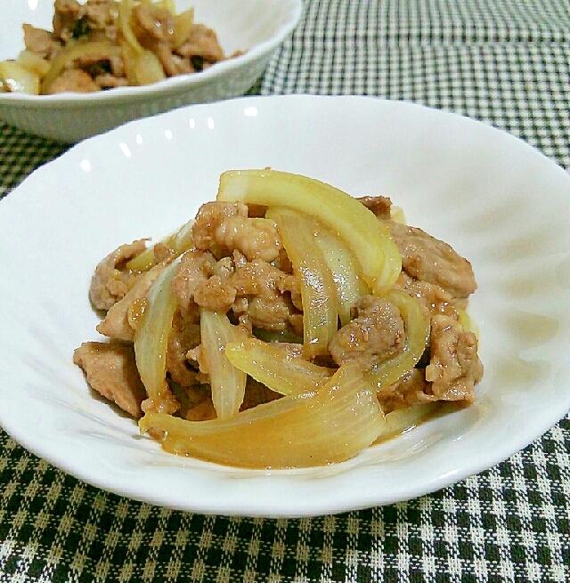 ダシダで豚肉と玉ねぎの炒めもの