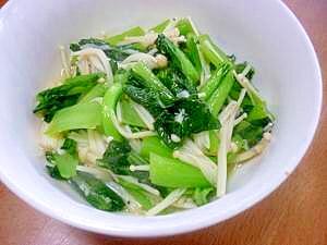 お弁当おかず*えのき&小松菜のバター炒め
