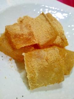 【糖質制限】寒天でなんちゃってわらび餅、風。