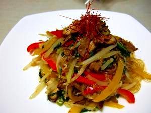 ありもの野菜で簡単チャプチェ風野菜炒め