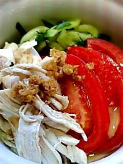 バンバンジー風3色サラダ