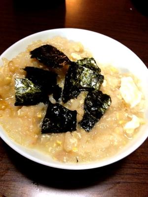 朝ごはんに!雑穀米とねぎのかんたん雑炊