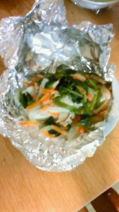 白身魚のホイル焼き(今回はスズキです)