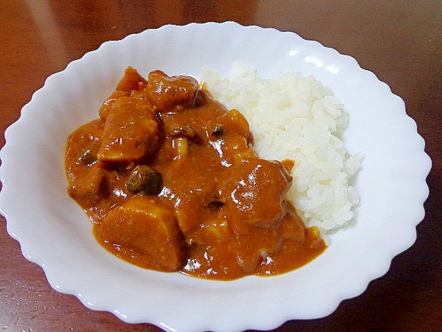 三度おいしい♪和惣菜→トマト煮→リ・リメイクカレー