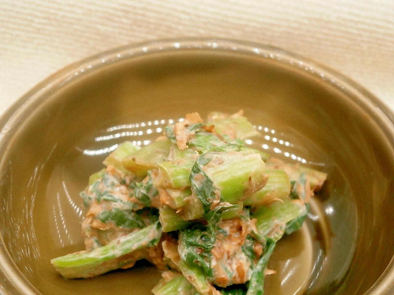 5. 小松菜とマスカルポーネのあえ物