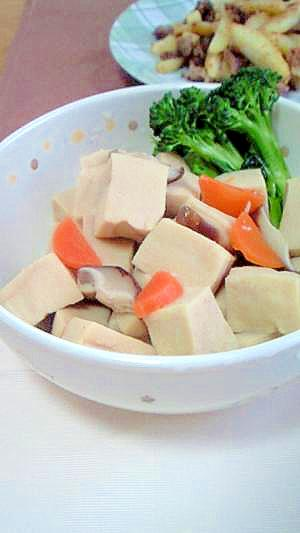 ころころ高野豆腐の含め煮