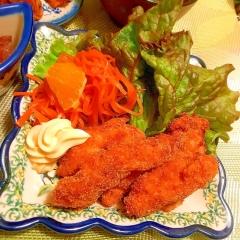 鶏ささみのふんわり香ばしいきな粉フライ