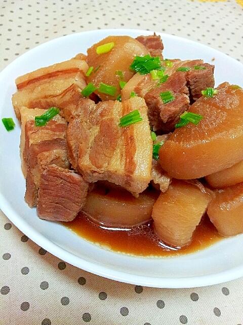 柔らかくて失敗なし♪簡単✿豚バラと大根の煮物❤ レシピ・作り方
