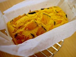 秋らしい☆カボチャの濃厚パウンドケーキ