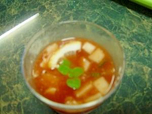 クールベジ☆トマトジュースでガスパチョ☆飲むサラダ