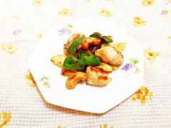 鶏ムネとピーマンのカシューナッツ炒め
