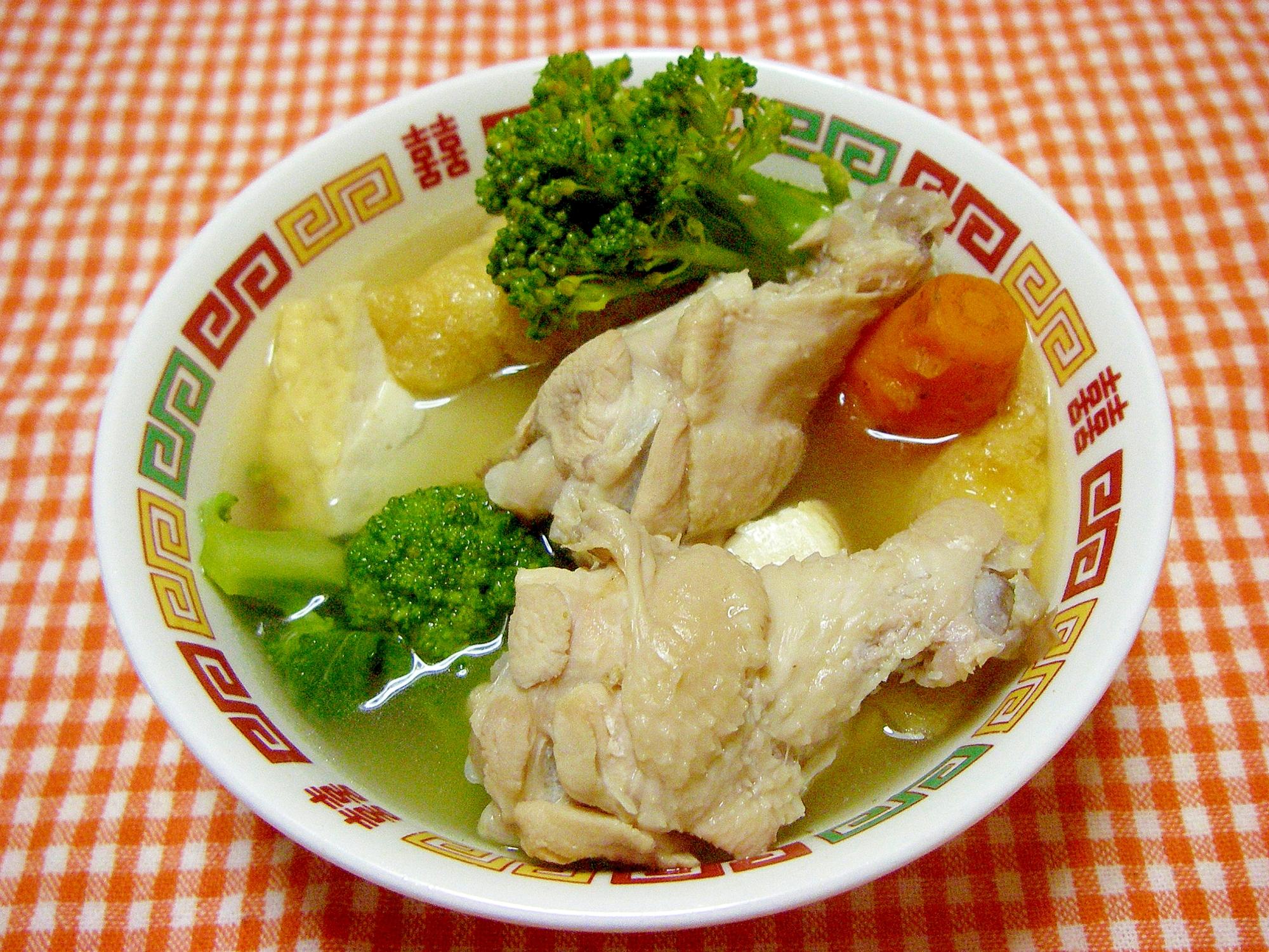 鶏の手羽元の具沢山スープ