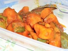 甘辛いおいしさ、かぼちゃの煮物