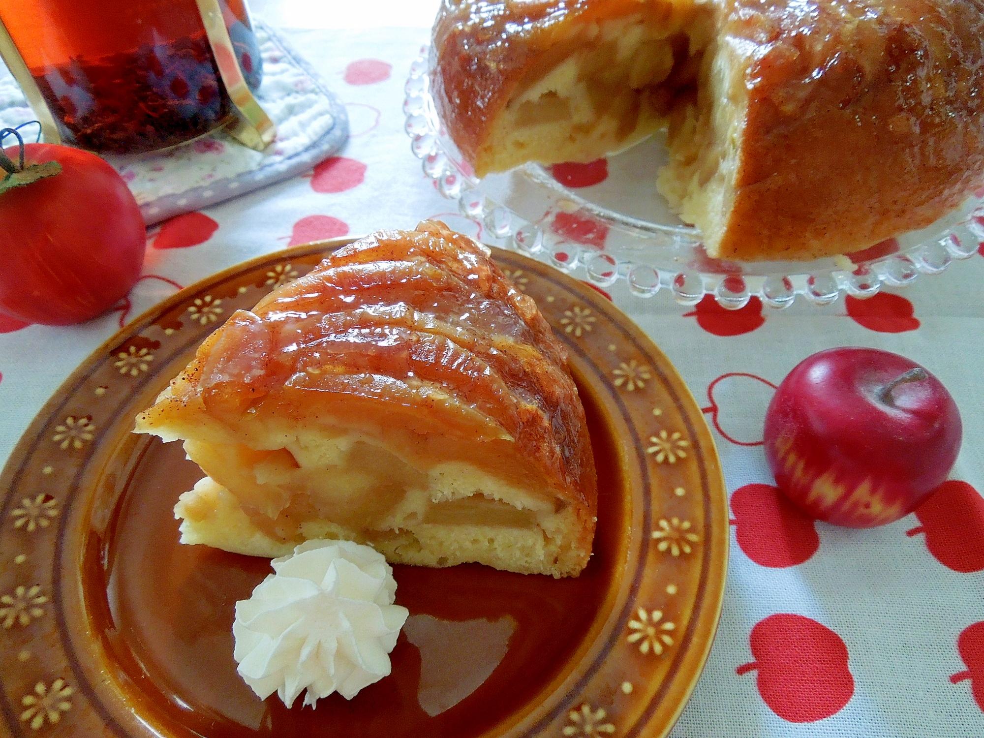 6. シナモンとりんごの豆乳アップルケーキ