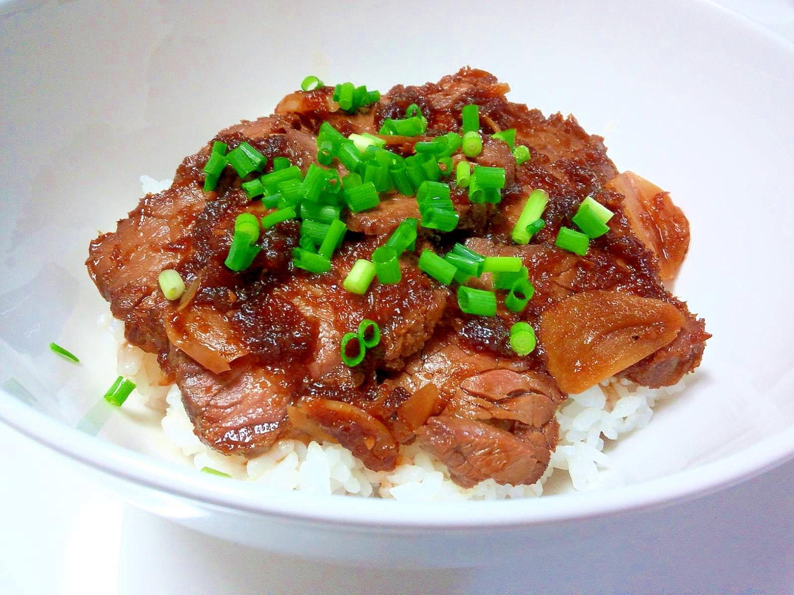 簡単リメイク♪和風ローストビーフ丼