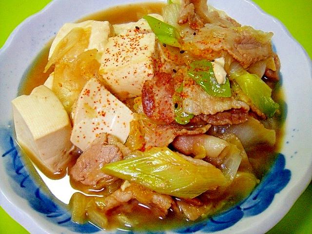 豆腐と豚バラ白菜の煮物