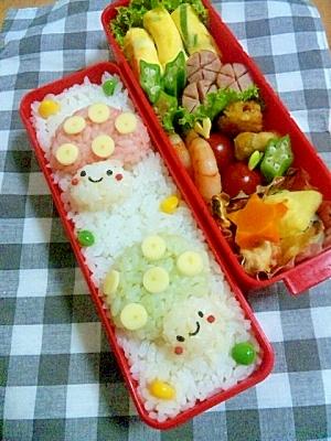 簡単キャラ弁☆きのこちゃんのお弁当♪