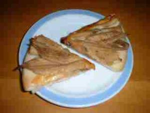 煮穴子のピザ
