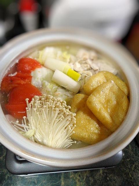 塩糀チキンとトマトのさっぱり鍋
