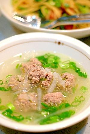 肉団子の中華スープ レシピ・作り方