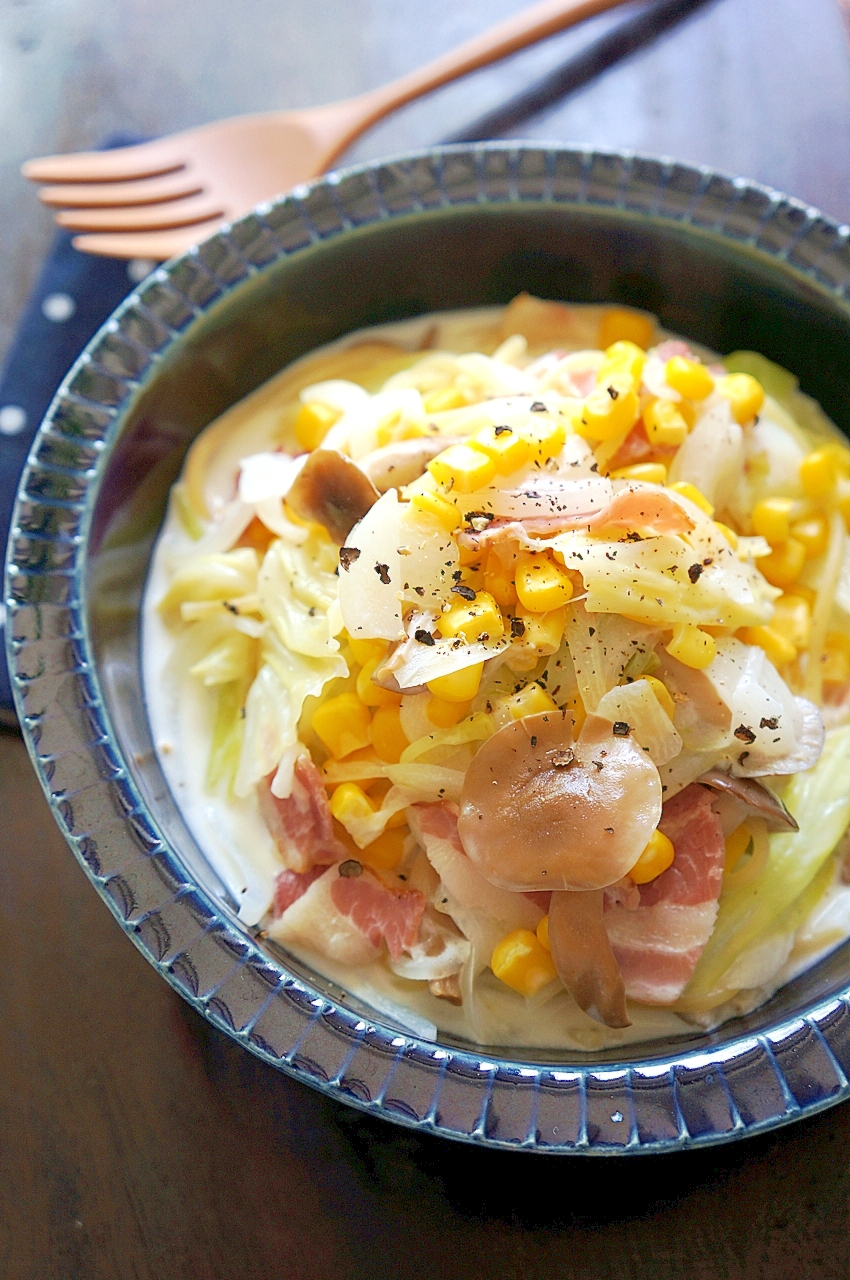【お手伝いレシピ】鍋ひとつで♪簡単クリームパスタ