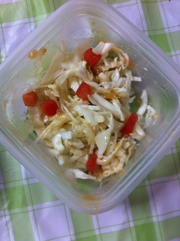 手作り風味☆トマト&キャベツのみそマヨサラダ