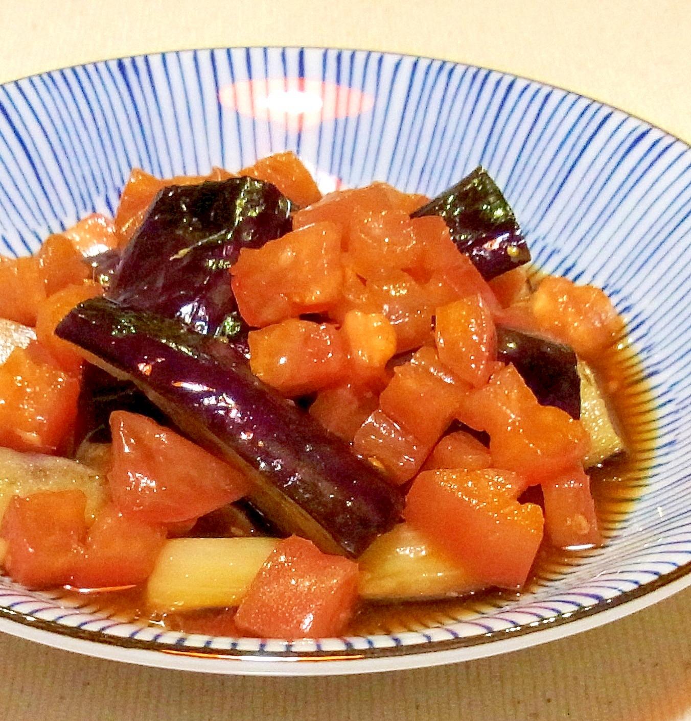 茄子のトマト甘酢がけ