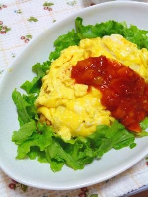 簡単にふわとろ卵*チーズinオムライス
