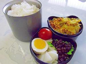 春キャベツの卵炒め弁当