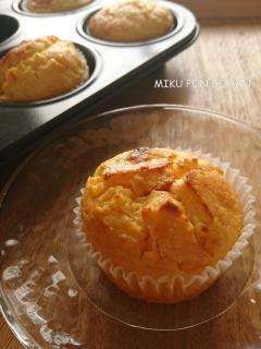 オレンジとクリームチーズのしっとりマフィン