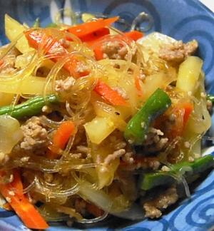 ひき肉と春雨の絶品ピリ辛炒め煮