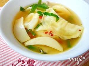 6.ピリ辛スープ餃子