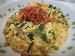 豆腐と卵のニラたま
