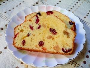 クランベリーミックスのパウンドケーキ