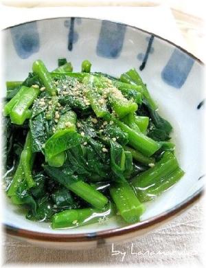 ネバネバが美味しい\u201dツルムラサキのお浸し\u201d レシピ・作り方 by はなまる子♪|楽天レシピ